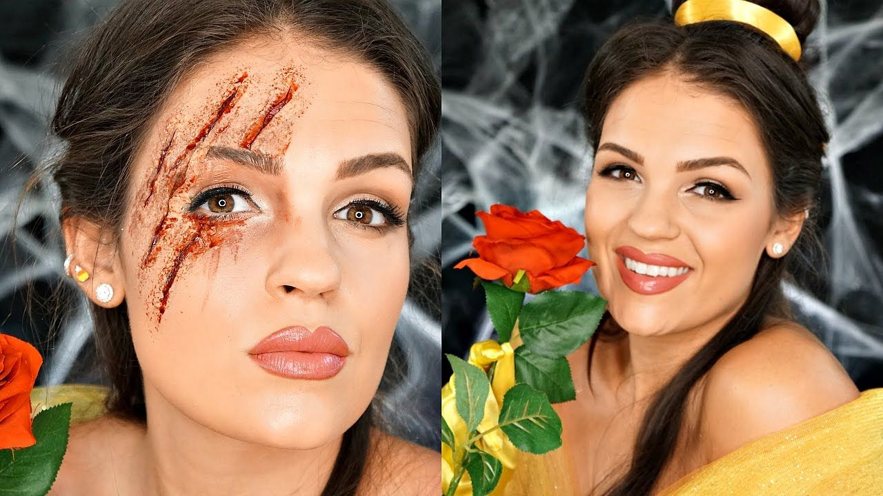Zombie Belle Beauty & The Beast Makeup | Collab With Pauline