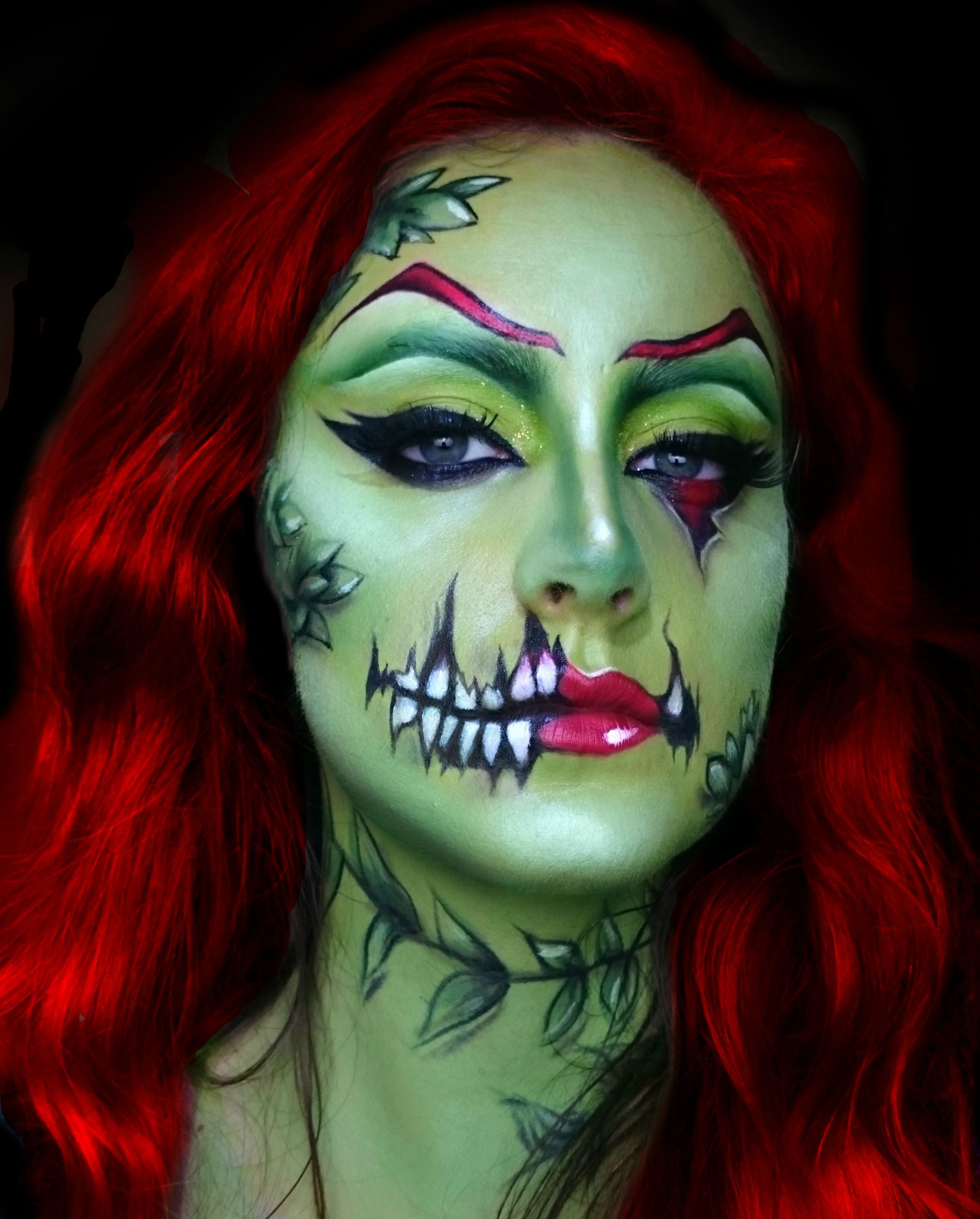 Poison Ivy Zombie Popart | Pop Art Makeup, Monster Makeup