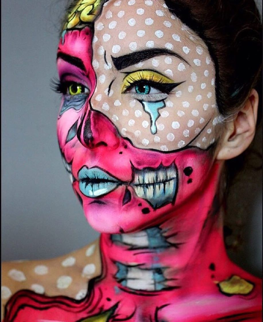 Pin By Megan Sanor On Halloween | Halloween Makeup, Pop Art
